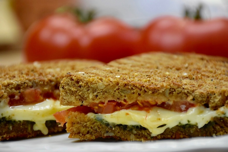 Caprese Grilled Cheese Sandwich » Recipes » Backyard Farms