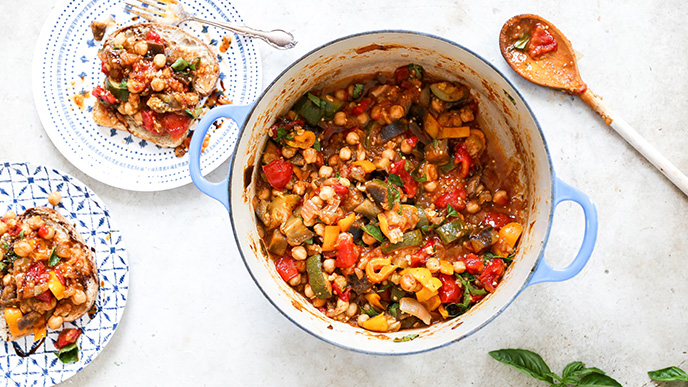 One-Pot Ratatouille with Chickpeas