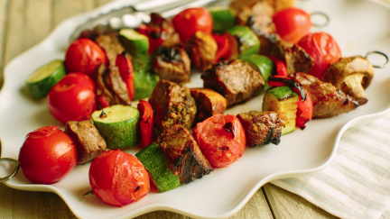 Loaded Beef Kabobs