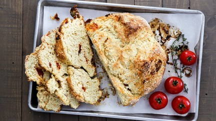Irish Soda Bread with Slow Roasted Tomatoes