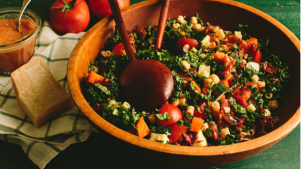 Autumn Minestrone Salad with Tomato Vinaigrette