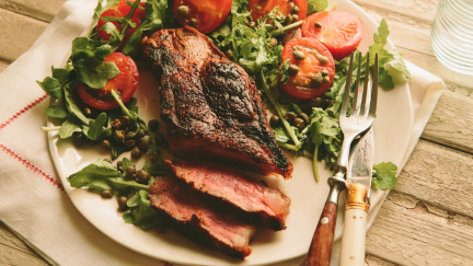 Italian Steak with Cocktail Tomato Salad