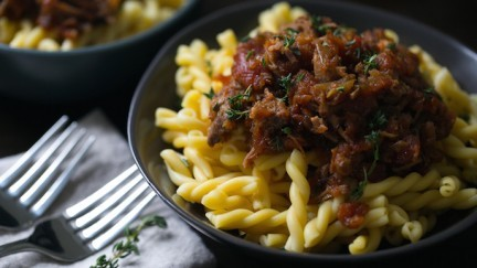 Braised Short Rib and Gemelli Pasta