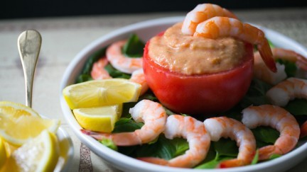 Beefsteak Tomato Shrimp Cocktail