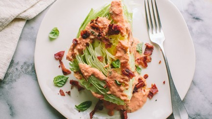 Classic Wedge Salad with Backyard Farms Creamy Tomato Basil Dressing