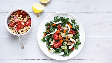 Winter Vegetable Panzanella Salad