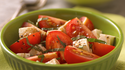 Tomato and Mozzarella Salad with Basil