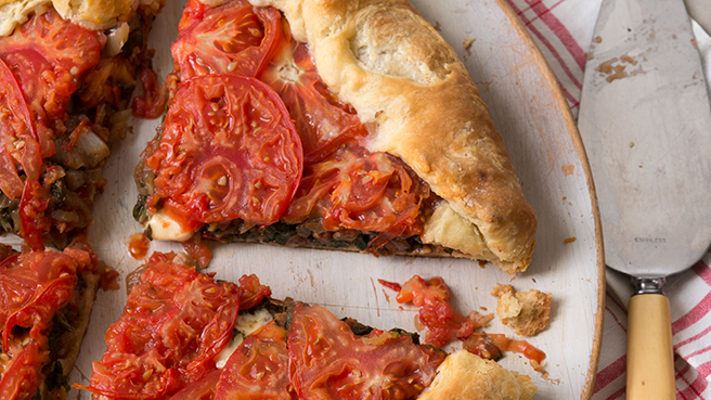 Tomato and Swiss Chard Pie